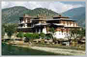 Punakha Dzong was the old capital of Bhutan.