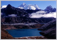 Mt. Everest and Gokyo lakes.
