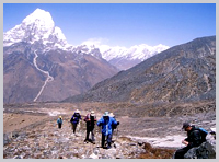 High on the Everest Base Camp trail.