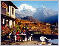 Lodge trekking in the Annapurna area.