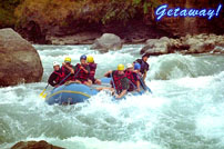 Rafting in the Teesta River  Darjeeling.